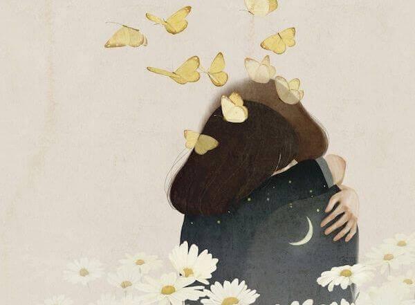 halaus, kukat ja perhoset