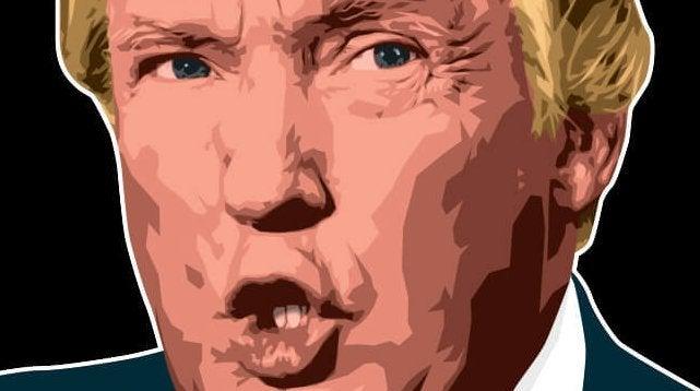 piirros Donald Trumpista