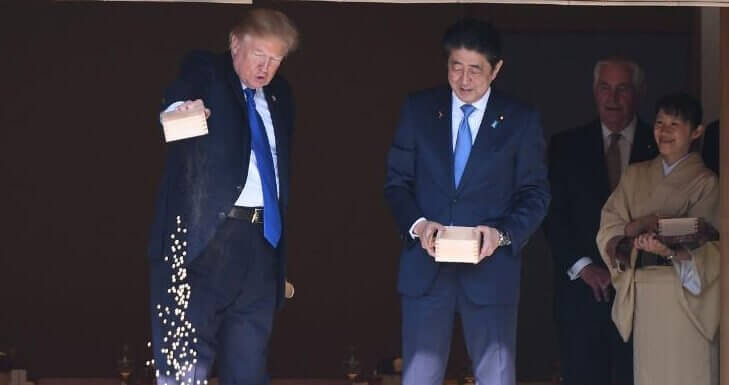Donald Trump Japanissa