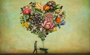kukista tehty sydän