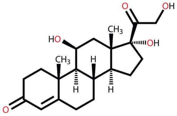 kortisolin kemiallinen kaava