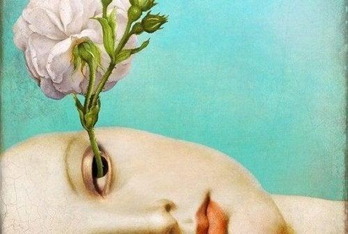 silmästä kasvaa kukka