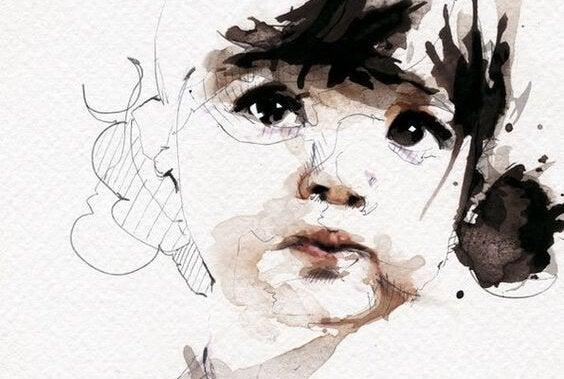 piirros pienestä lapsesta