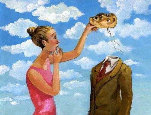 kognitiivisia vääristymiä: naamarin alla ei ole päätä
