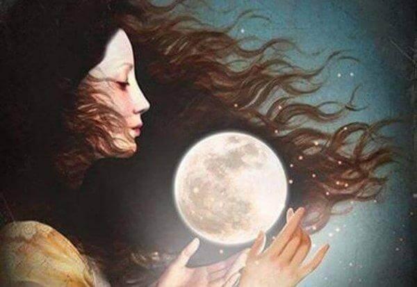 naisen sykli ja kuu