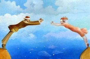 hyppäävät sokkona toistensa luo