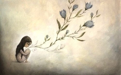 kukat kasvavat tytöstä