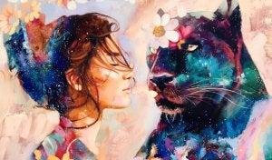 nainen ja musta pantteri
