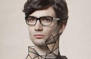 miehellä on outoja kuvioita kaulassaan