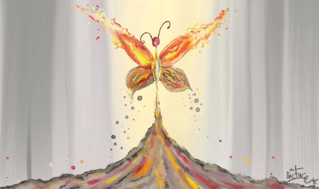 henkilökohtainen kriisi josta perhonen nousee