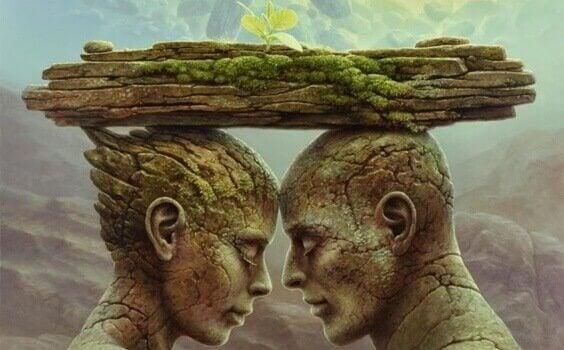 Peiliteoria, ja haavat jotka rakentavat ja rikkovat parisuhteita