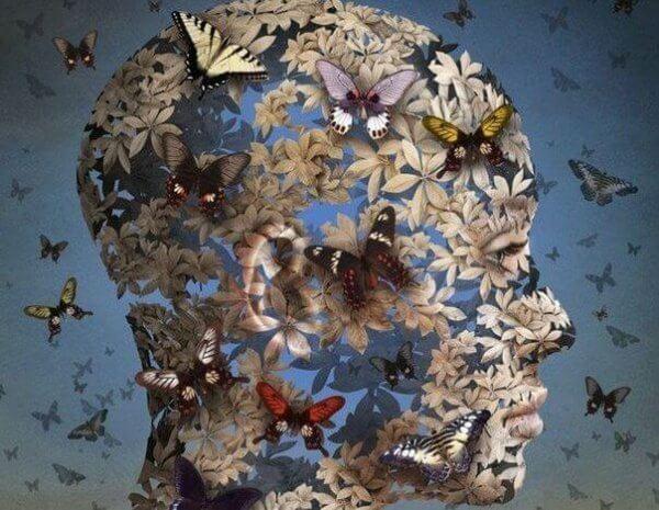 pää muodostuu kukista ja perhosista