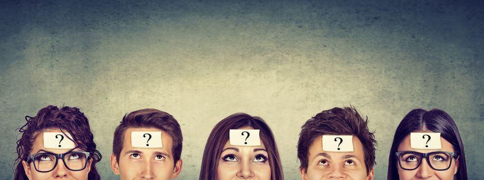 nuorilla ihmisillä kysymysmerkki otsassaan