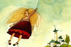 ilmapallo vie tytön