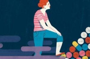 nainen ja kasa masennuslääkkeitä