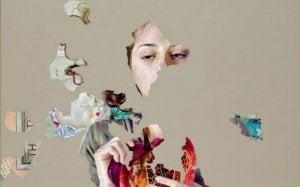naista hädintuskin näkee