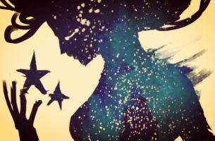 nainen ja tähdet