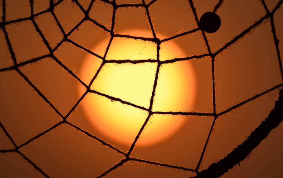 neulottu hämähäkinverkko