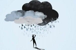 ihmisen päälle sataa