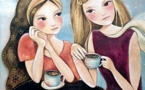tytöt kahvilla - erityiset hetket