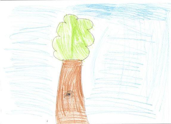 puutesti: lapsen piirtämä puu