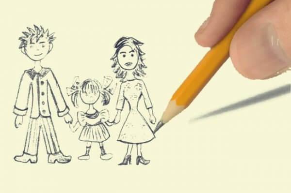 piirtää perhettä