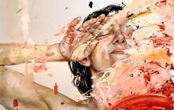 nainen ja maali