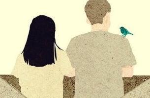 pariskunta ja lintu