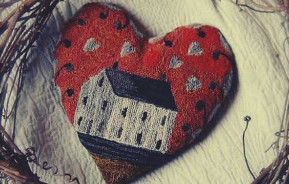 sydämessä talo