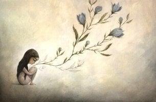 tytöstä kasvaa kukka