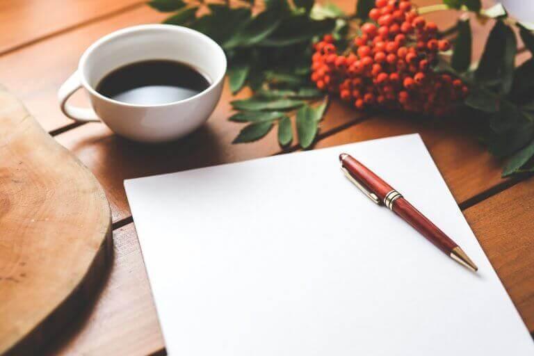 kokeile terapeuttista kirjoitusharjoitusta