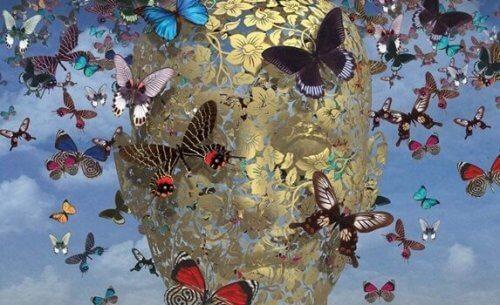 empaattiset aivot ovat täynnä perhosia