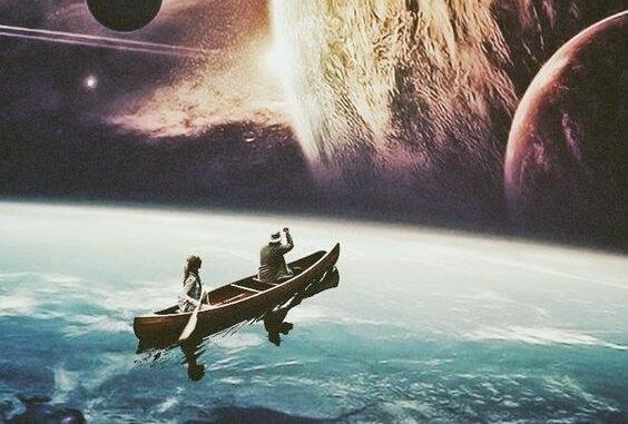 veneilemässä maapallolla