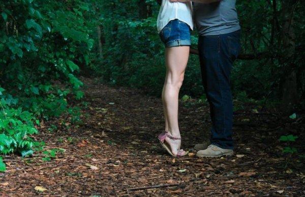 suudelma metsässä