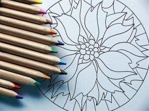 mandala ja värikynät