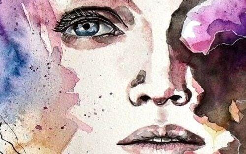 maalaus sinisilmäisestä naisesta