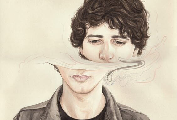 dissosiaatiohäiriö: miehen kasvot puolittuvat