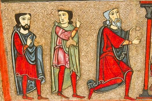 kolme miestä maalauksessa