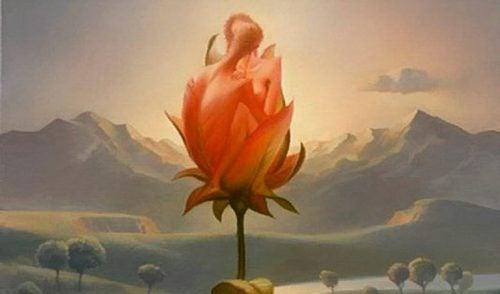 pariskunta muodostaa ruusun