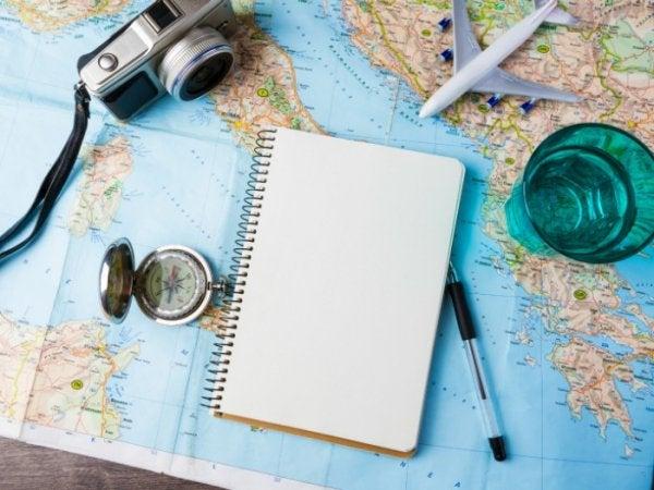kartta ja matkasuunnitelmat