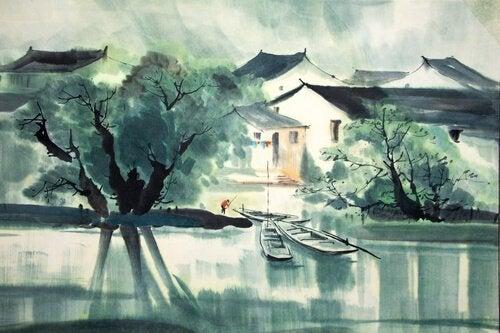 zen-tarina tapahtuu joella