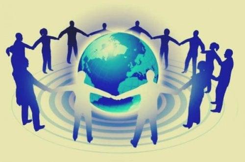 kaikki ihmiset maailmassa ovat yhdistyneet