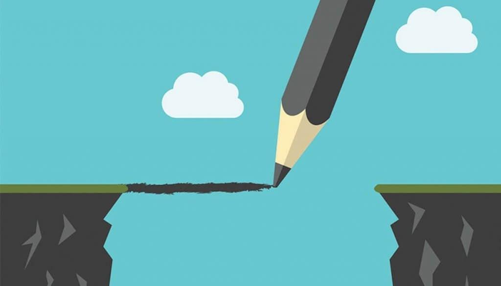 kynä piirtää sillan