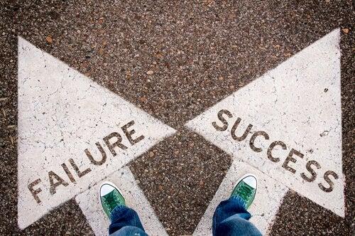 valitse menestys tai epäonnistuminen