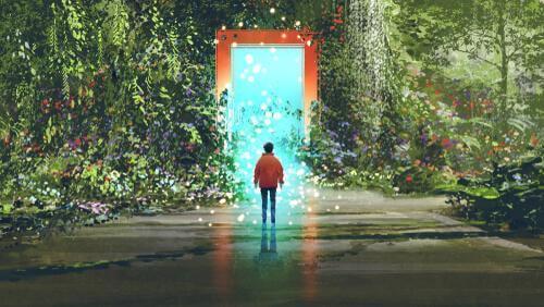 poika oven edessä