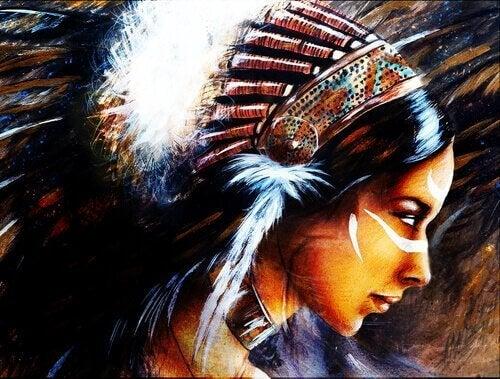 intiaaninainen