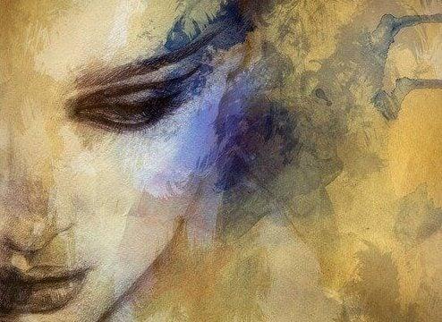 rauhallinen maalaus naisesta