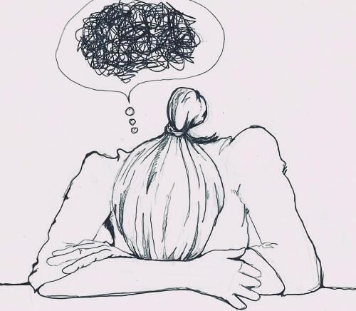ahdistuneet ajatukset