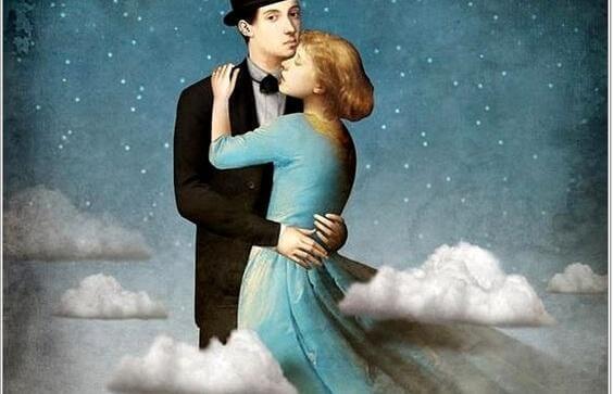 nainen ja mies etsivät onnellisuutta toisistaan