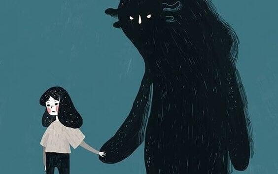 tyttö ja mörkö